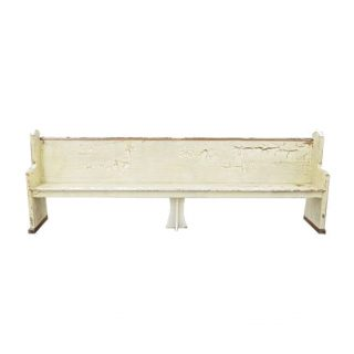 Antique White Ceremony Pew