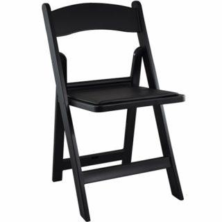 Black Wood Folding Chairs
