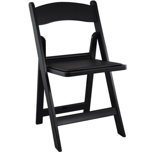 Black Wood Folding Chair