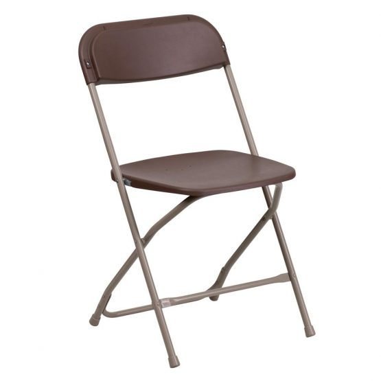 Brown Plastic Folding Chair