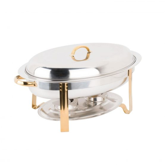 Gold Round Acrylic Charger