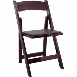 Mahogany Wood Folding Chairs