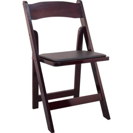 Mahogany Wood Folding Chairs