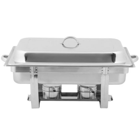 8qt. Rectangular Silver Chafer
