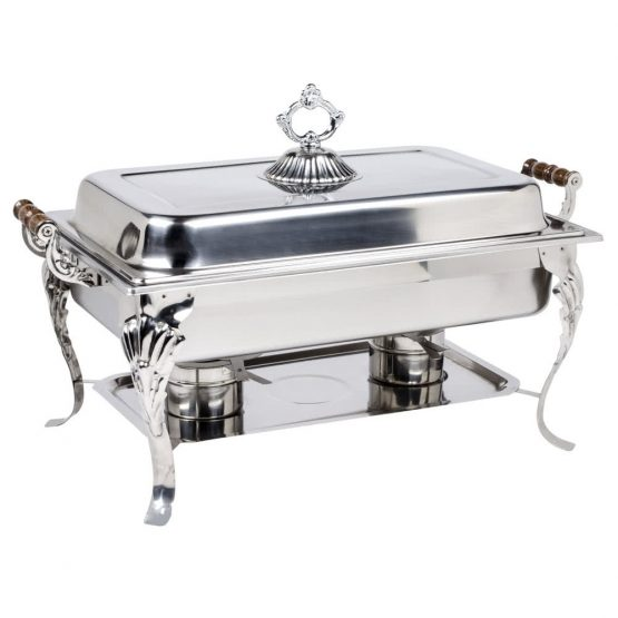 Stainless Chafer with Wood Handles 8 Qts.