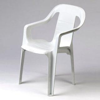 White Plastic Children's Chair