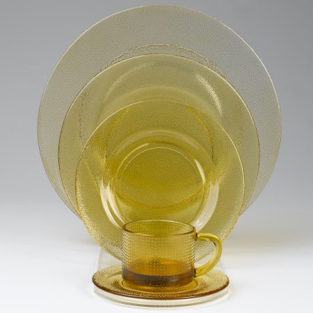 Amber Glass Plates