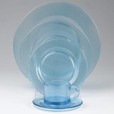Aqua Glass Plates