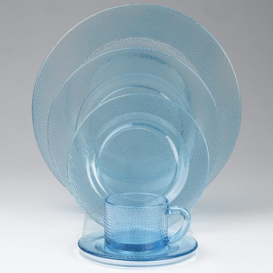 Aqua Colored Glass Plates