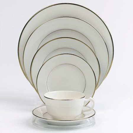 Fine Ivory China With Gold Rim