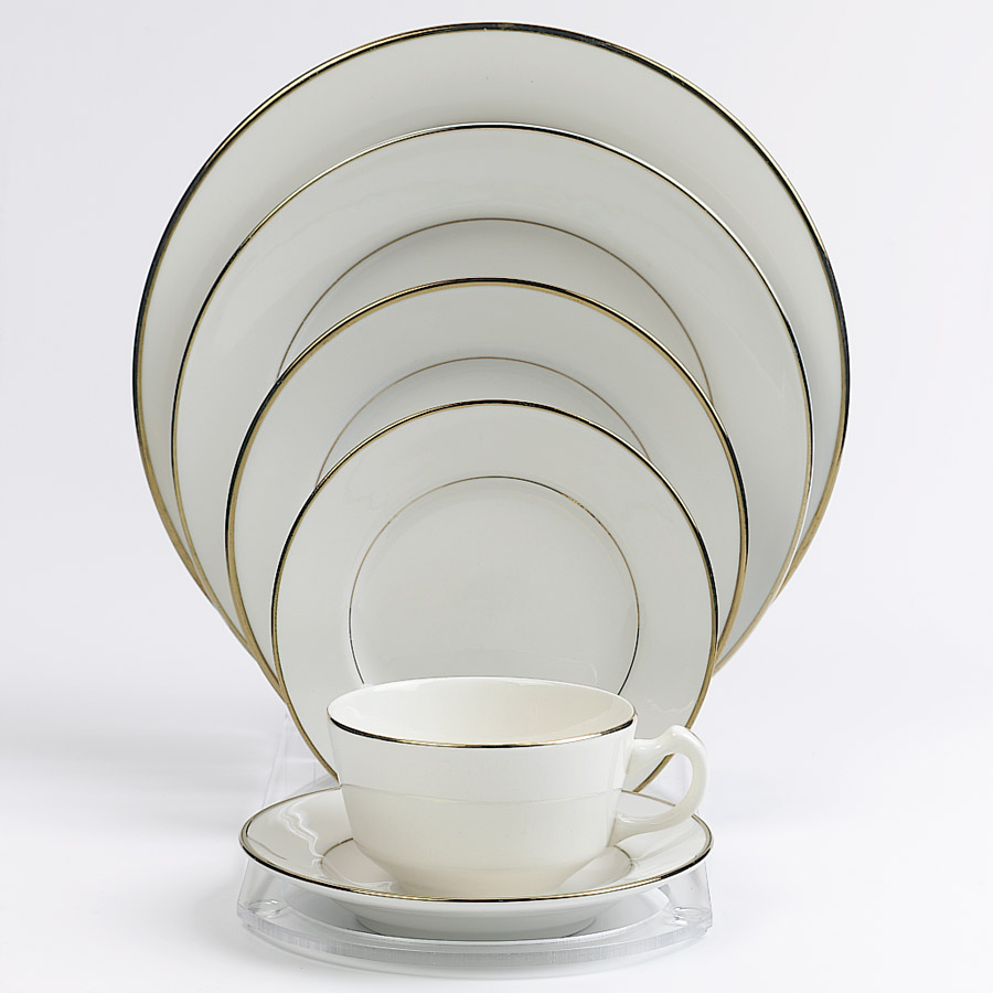 China With Gold Trim