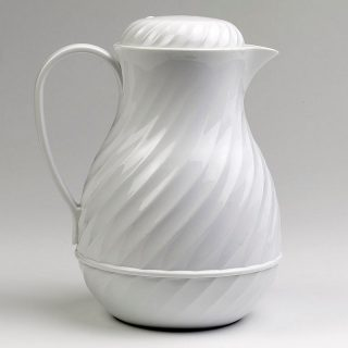 White Swirl Coffee Server