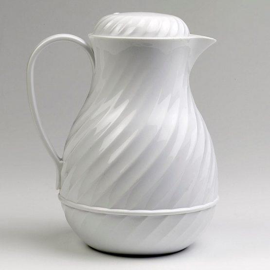 White Swirl Coffee Server