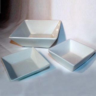 Super Square White Bowls