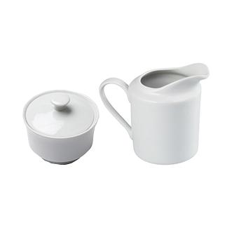 White Ceramic Sugar And Creamer Set