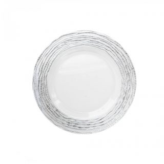 "13"" Arizona Silver Glass Charger"