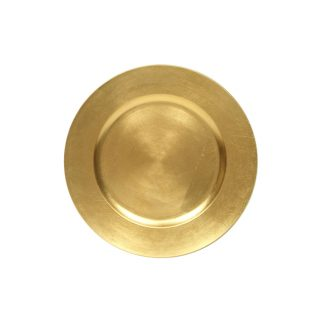 Gold Round Charger