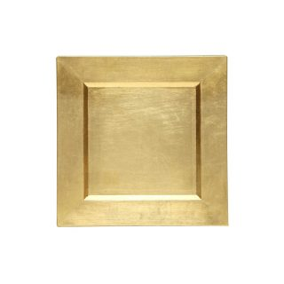 """13"""" Gold Square Charger"""