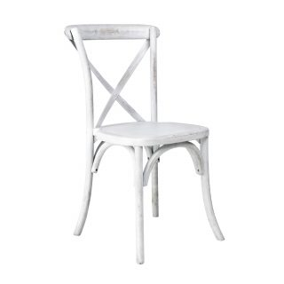 White Wash Cross Back Chair