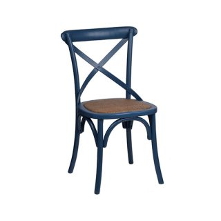 Navy Cross Back Chair