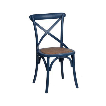 Navy Cross Back Chair