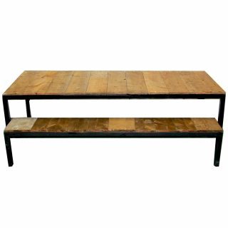 Plank Farm Table With Bench