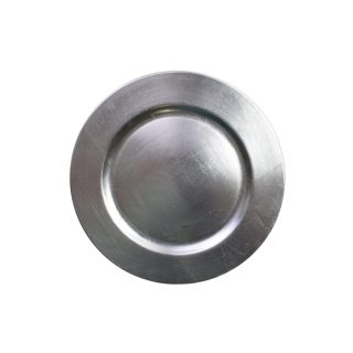 Silver Round Acrylic Charger
