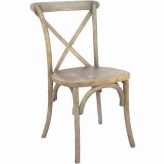 Natural Oak Cross Back Chair