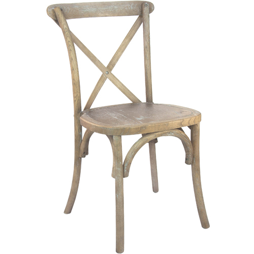 Natural with White Grain Cross Back Chair
