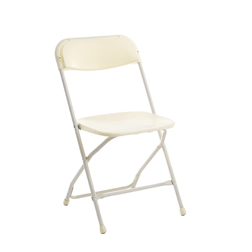 Vanilla Plastic Folding Chair