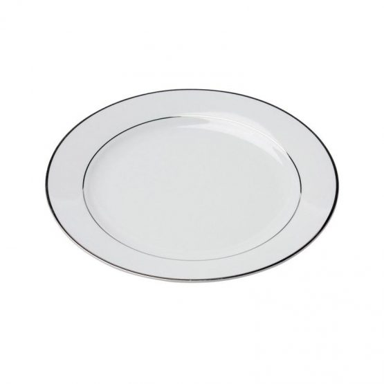 White Rim Platinum Dinner Plate 10.5_
