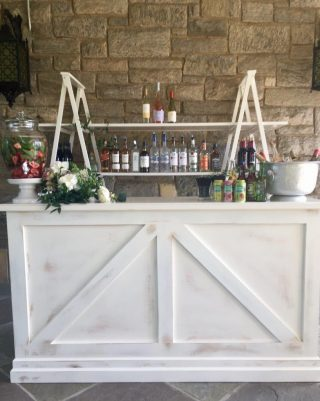 White Washed Bar With Back Ladder
