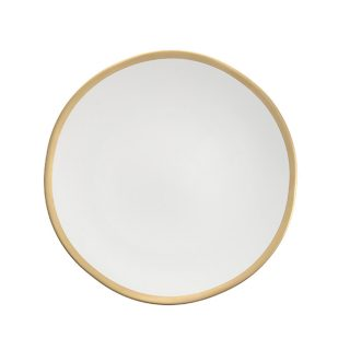 Matte Linen with Gold Rim China
