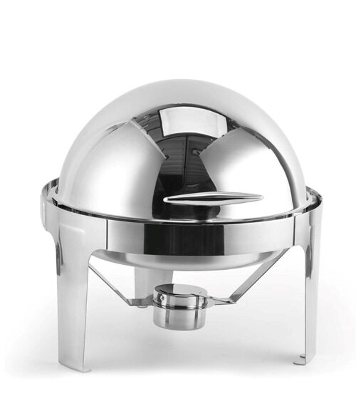 6 qt Rolling Stainless Steel Chafer
