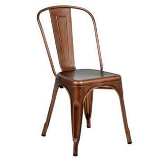 Brushed Copper Bistro Chair