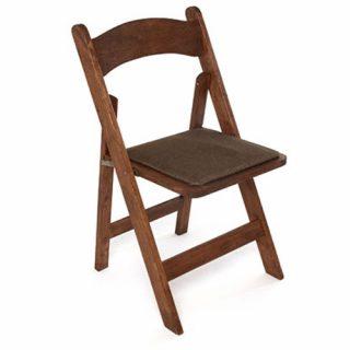 Matte Walnut Folding Chairs
