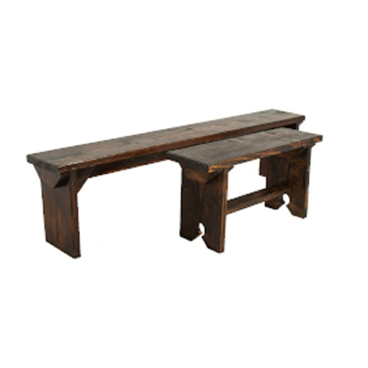 Six Foot Rustic Bench Espresso