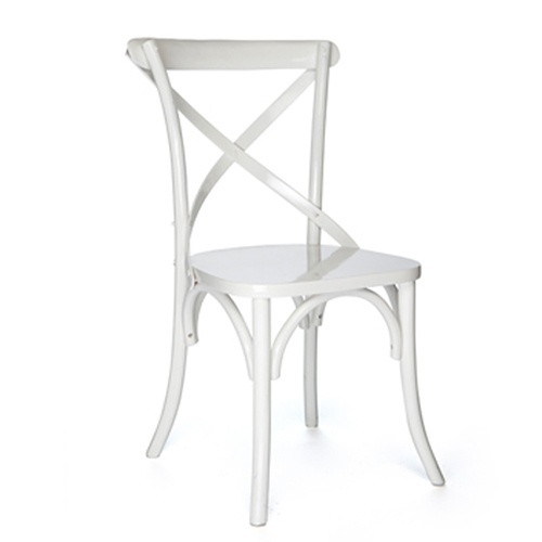White Cross Back Chair