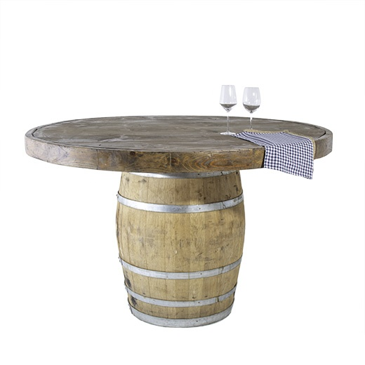 66INCH AND 42INCH HIGH ROUND WINE BARREL TABLE