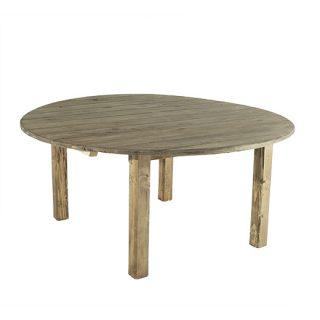 "66"" Walnut Farm Round Dining Table"