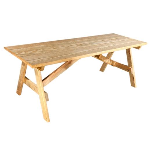 Natural Wood Picnic Table