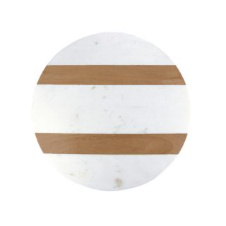 Marble Board with Wood Stripe