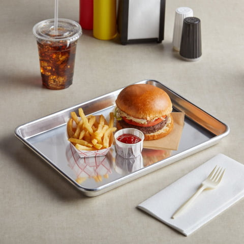 Quarter Sheet Stainless Lunch Tray