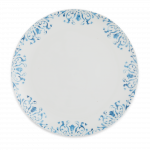 Watercolor Blue Coupe Dinner Plate